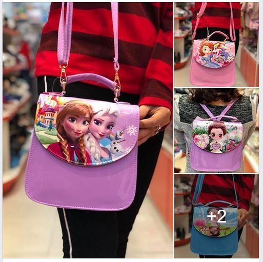 Túi đeo chéo công chúa Elsa Anna Sofia có thể tạo kiểu thành ba lô đeo tiện dụng