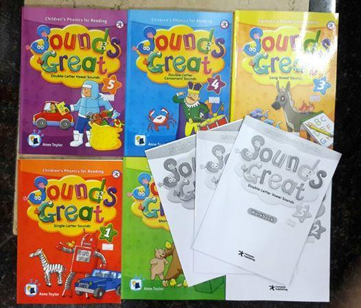 Sách giáo trình học Sound Great có 5 cấp độ cho bé bắt đầu học tiếng Anh