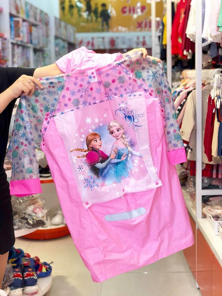 Áo mưa công chúa Elsa cho bé gái mầu hồng