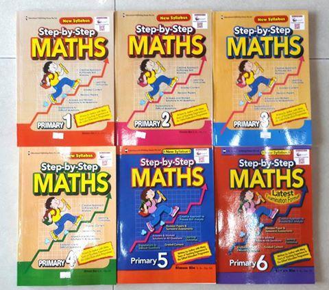 Maths Step by Step Primary sách toán tiếng Anh tiểu học Singapore