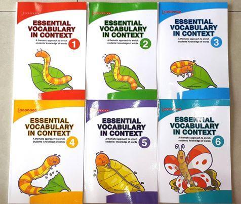 Bộ sách sâu Essential Vocabulary In Context bộ 6 quyển sách từ vựng tiếng anh của Singapore