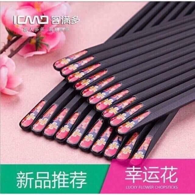 Bộ 10 đôi đũa hoa mai xuất Nhật