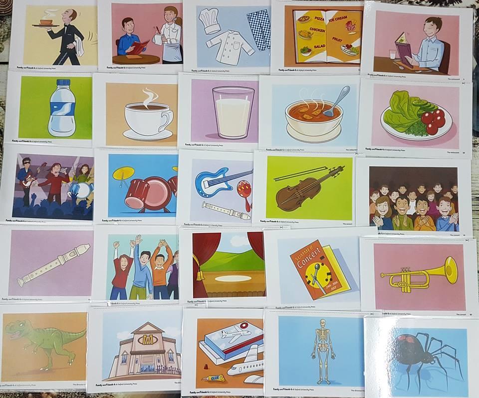 Flash card theo bộ giáo trình học Family and Friends