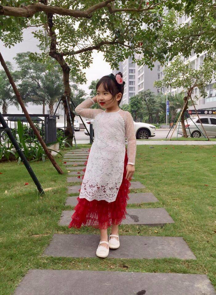 Áo dài gấm cách tân trẻ em size 1-10 tuổi ( 8kg-30kg)