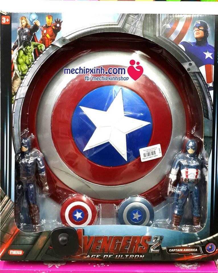 Bộ đồ chơi siêu nhân đội trưởng Mỹ