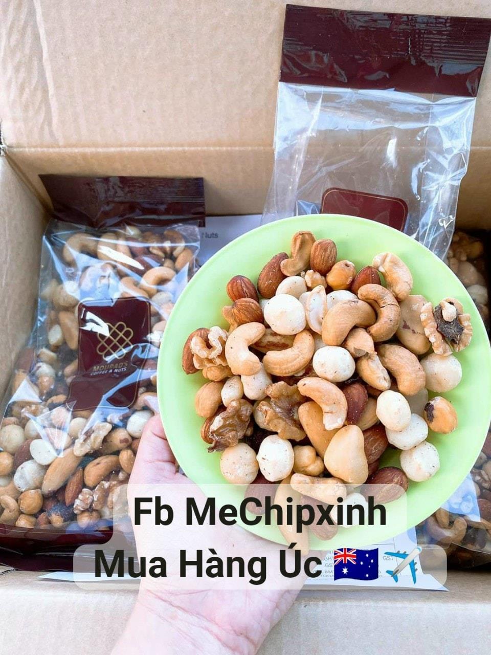 💯✅ Hạt mix cao cấp mourad's Mixed Nuts Premium 500gr 👍 của Úc🇦🇺