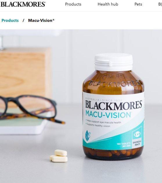 💥 Thuốc bổ mắt Blackmores Macu-Vision lọ to 150 viên