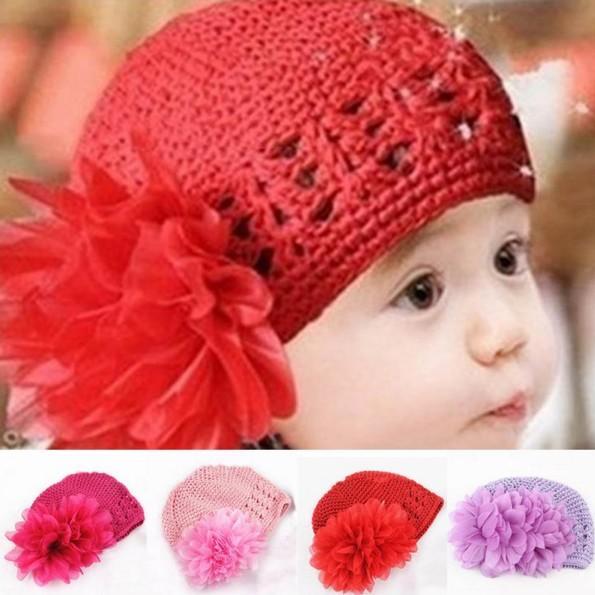 Mũ lưới hoa to điệu xinh cùng bé gái