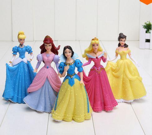 Bộ 5 công chúa Disney cao ~ 14 cm