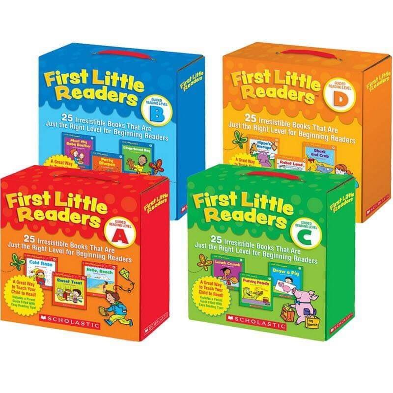 Bộ First little readers A, B, C D- Scholastic bộ 25 quyển / level sách truyện tiếng Anh trẻ mầm non mẫu giáo