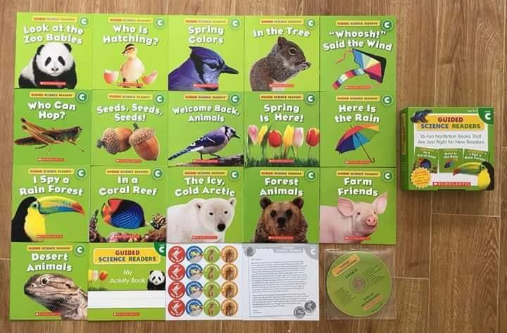 Scholastic Guided Science Readers Level C - truyện đọc tiếng anh trẻ mầm non mẫu giáo