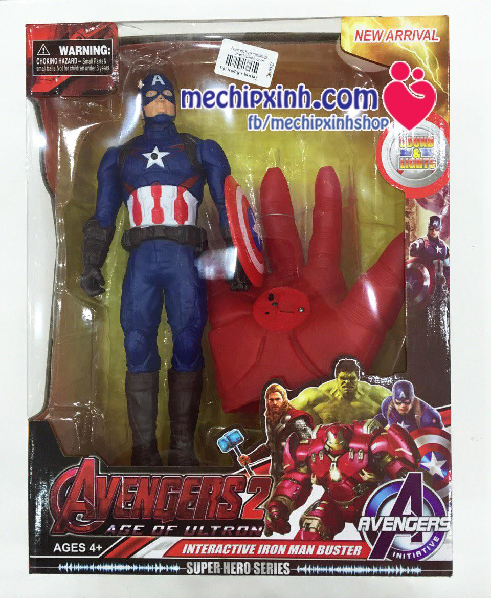 Bộ đồ chơi Mô hình đội trưởng Mỹ và bàn tay Iron man