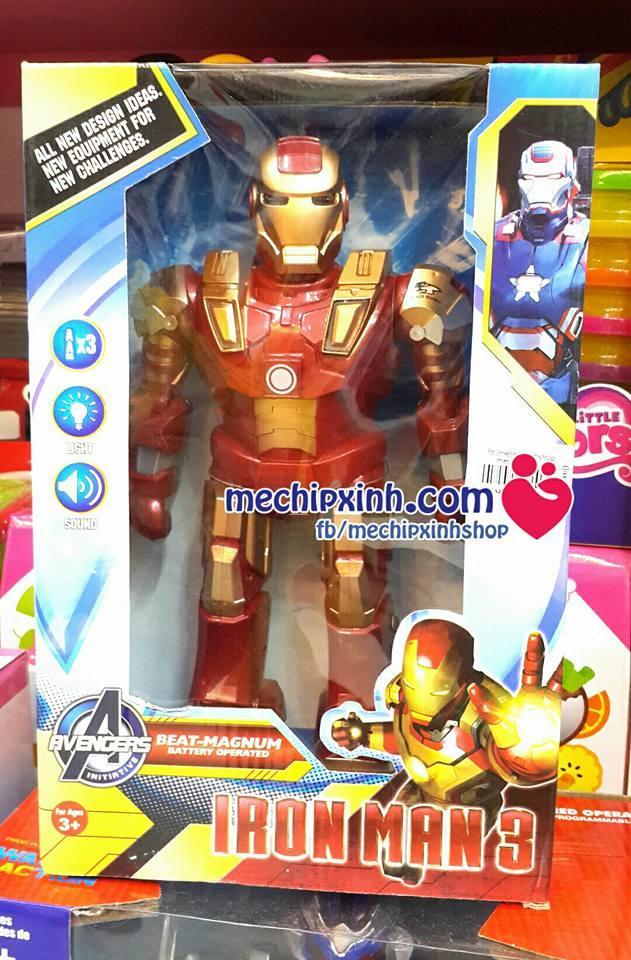 Đồ chơi mô hình Iron man có đèn có nhạc