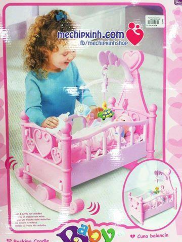 Đồ chơi nôi búp bê cho bé gái mầu hồng ( giá chưa bao gồm có búp bê )