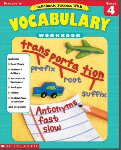 Scholastic Success With Vocabulary Grade 1-2-3-4-5