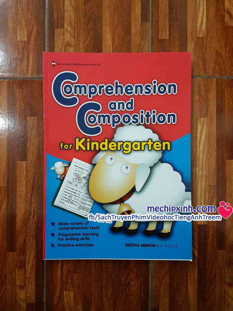 Comprehension and compositon for Kindergarden sách từ vựng tiếng Anh Singapore sách hình con Cừu