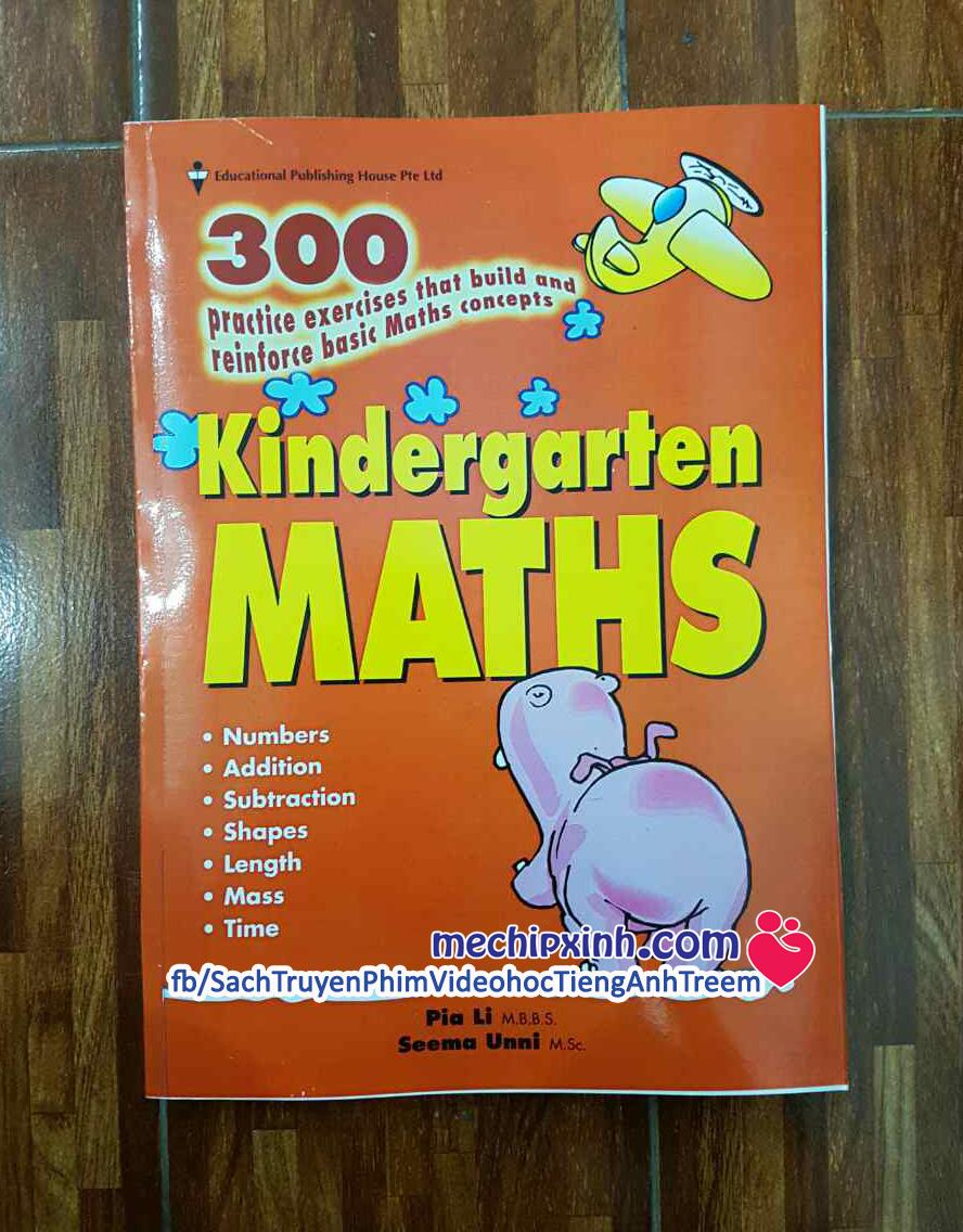 Kindergarten Maths - Bộ 300 bài tập toán sách tiếng anh Hà Mã của Singapore