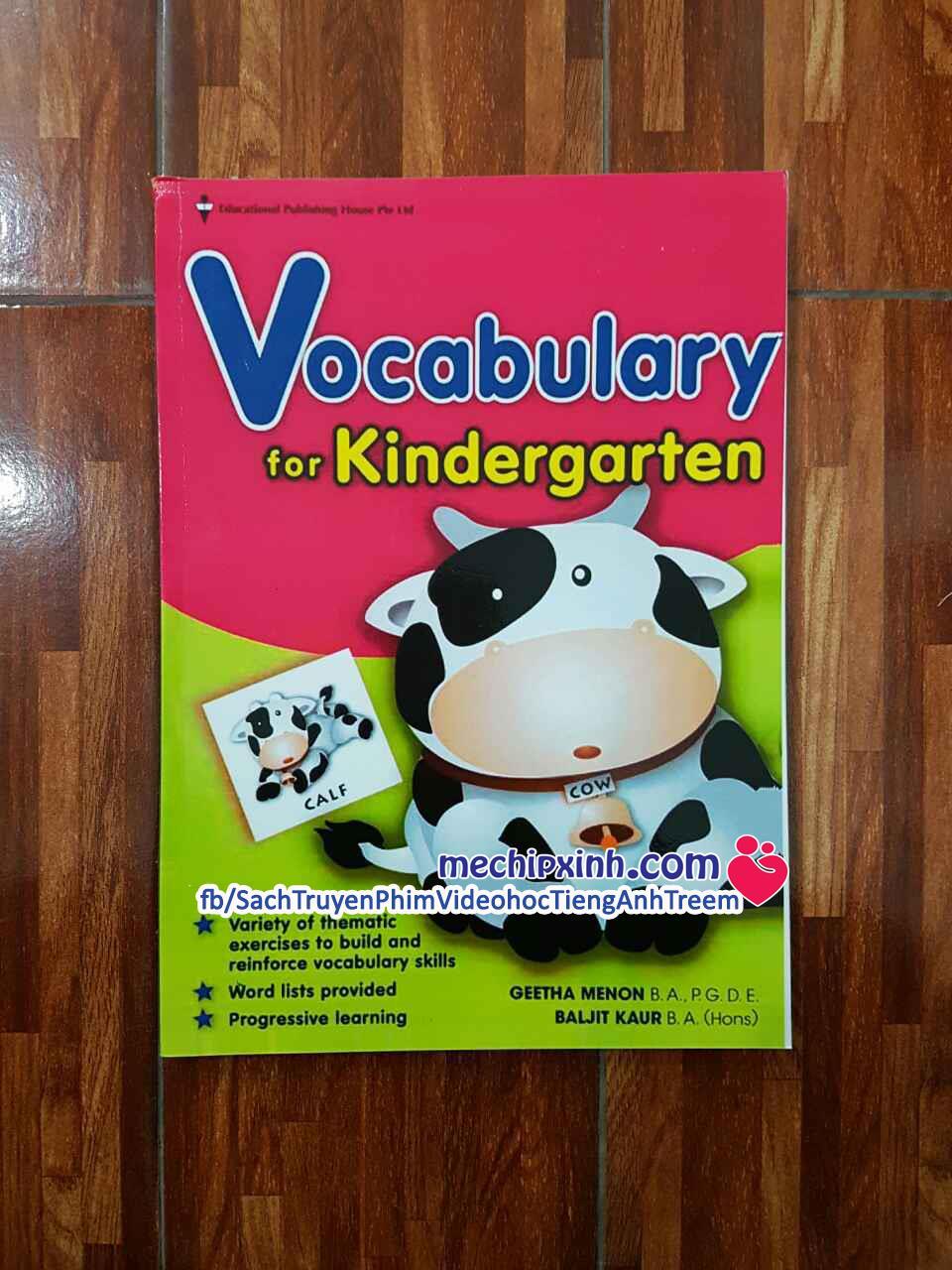 Vocabulary for Kindergarten sách từ vựng tiếng Anh Singapore hình con bò