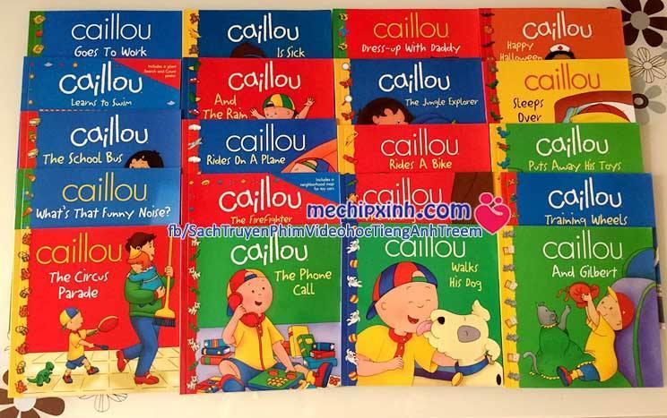 Caillou bộ 20 quyển truyện tiếng Anh nhập khẩu cho trẻ em