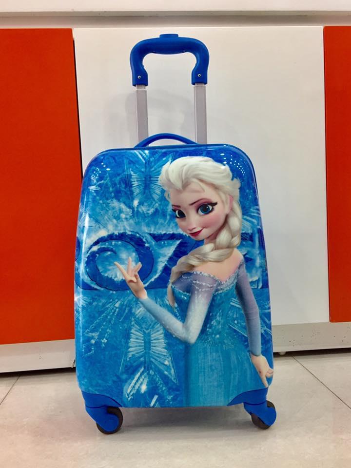 Vali Elsa kéo 4 bánh xoay 360 độ cho bé đi du lịch
