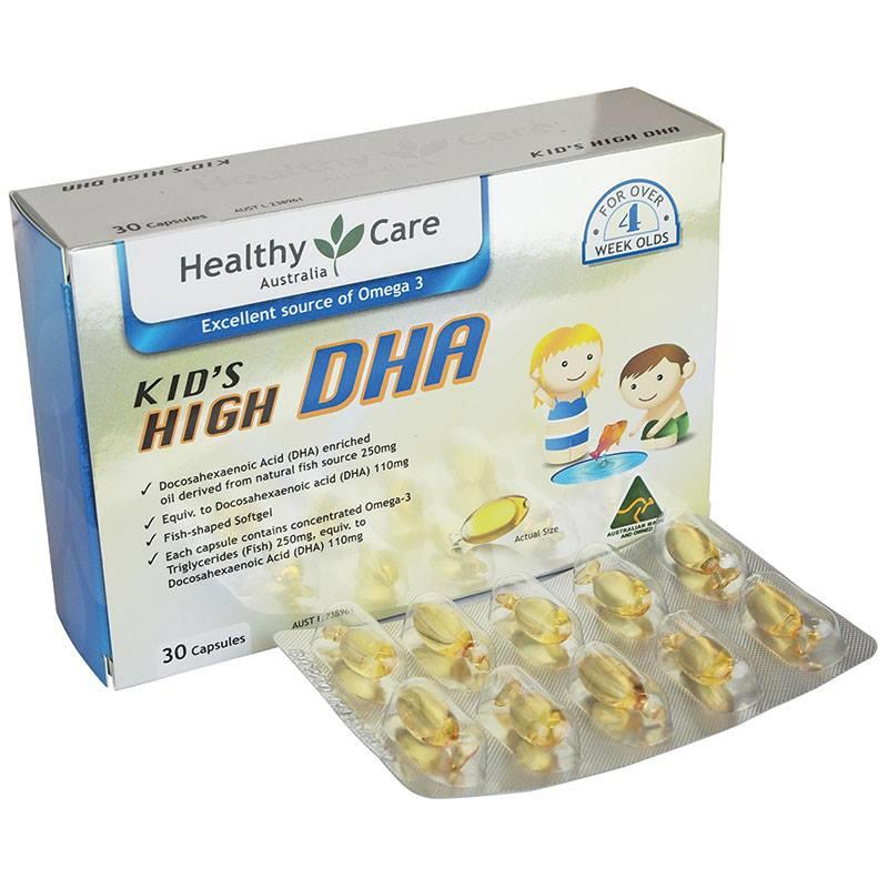 Healthy Care Kids High DHA Blister