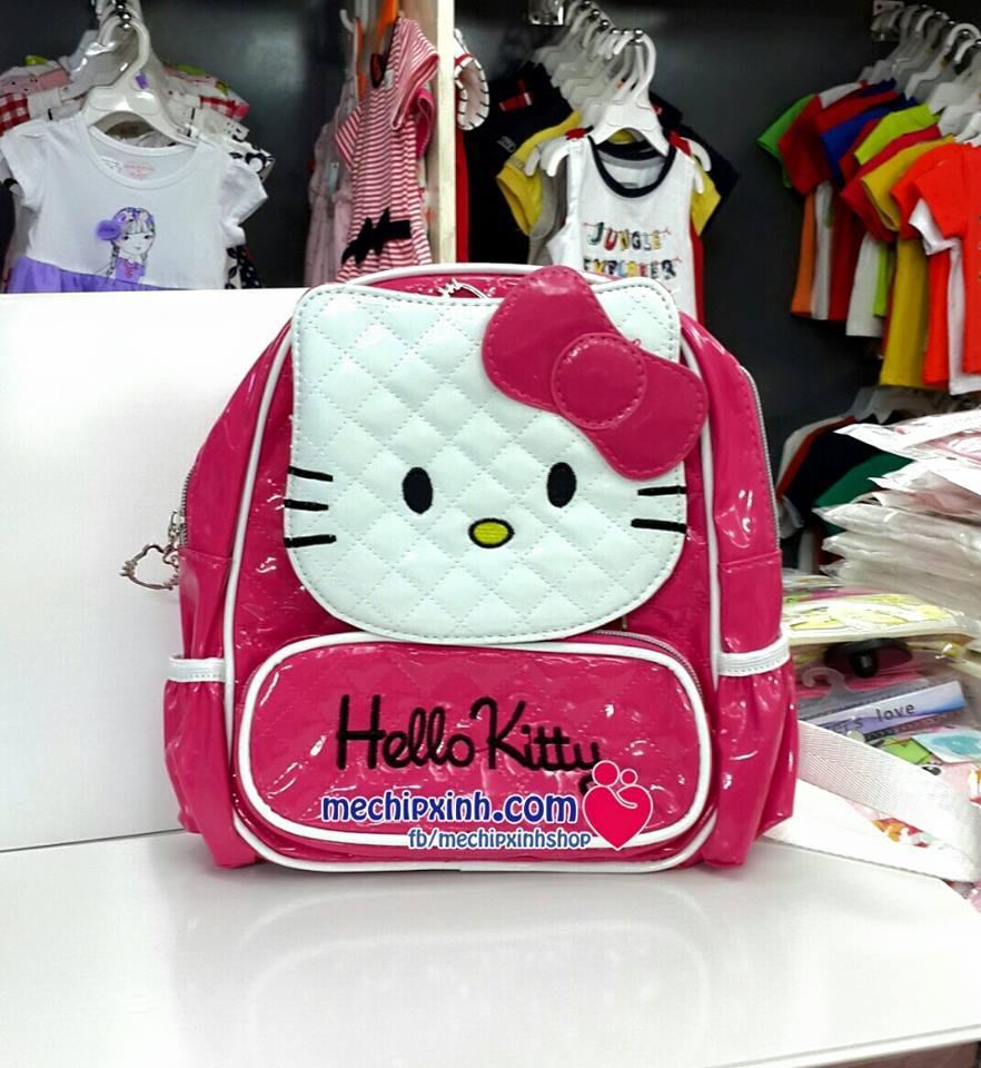 Ba lô Hello Kitty da bóng hàng đẹp cho bé mẫu giáo