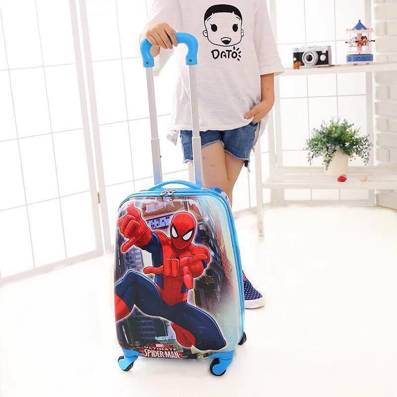 Vali kéo Spider man người nhện cho bé đi du lịch