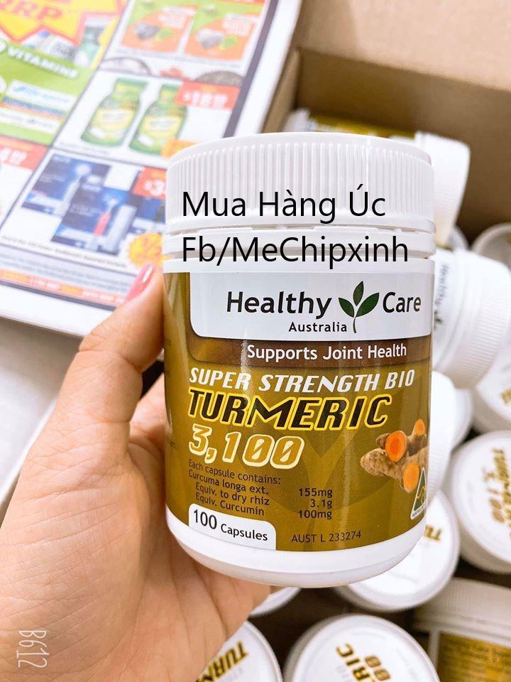 Viên uống tinh chất nghệ Healthy Care Turmeric