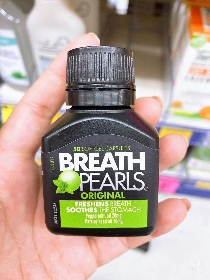 Viên uống thơm miệng Breath Pearls Natural😍