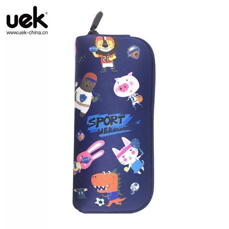 Hộp bút hãng UEK cho bé hình vũ trụ xanh