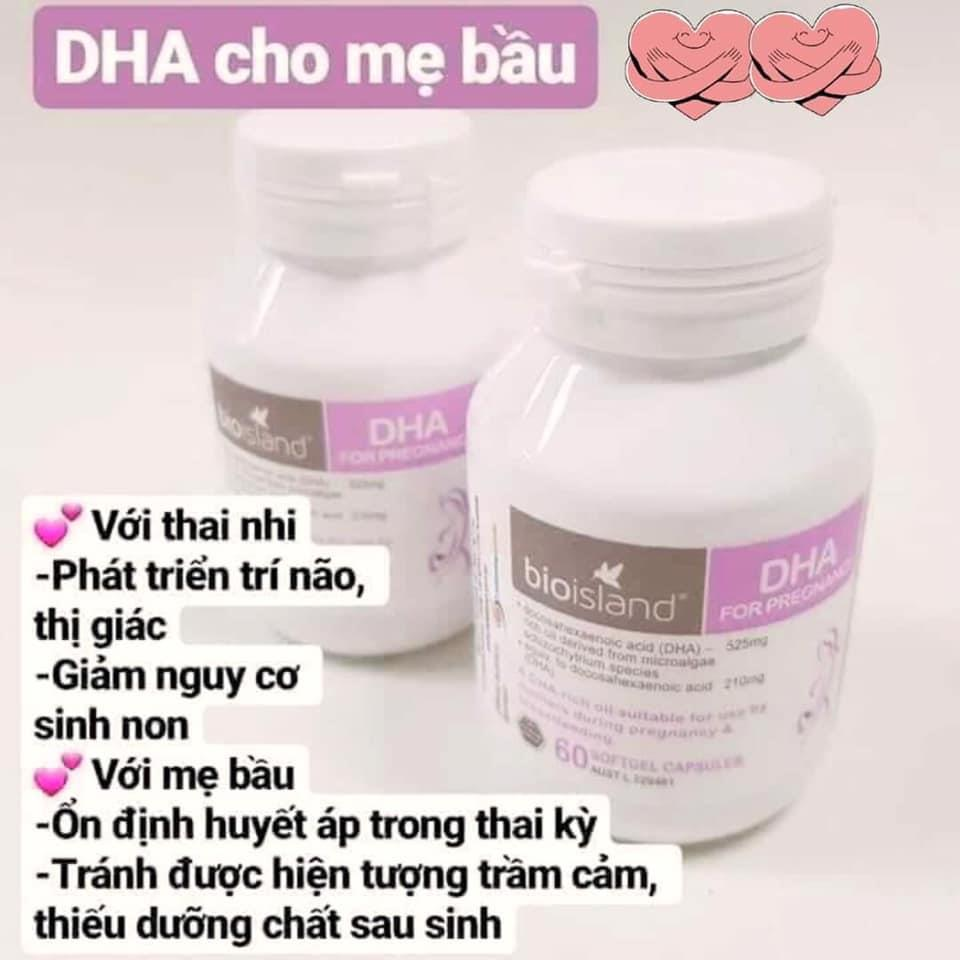 Bioisland DHA for Pregnancy - DHA cho bà bầu ( 60 viên)
