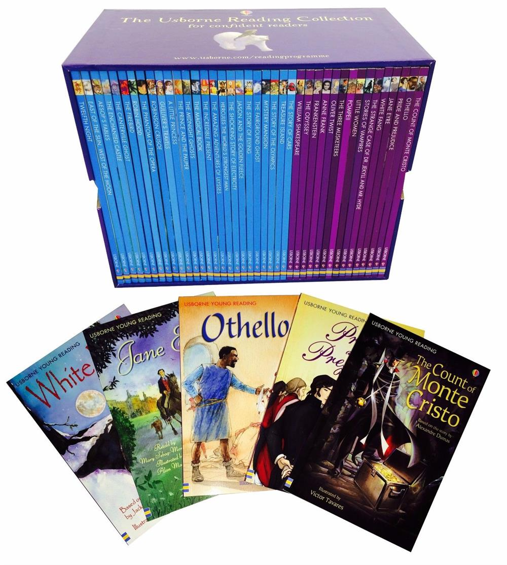 Usborne Reading Collection For Confident Readers - Bộ Tím 40 quyển