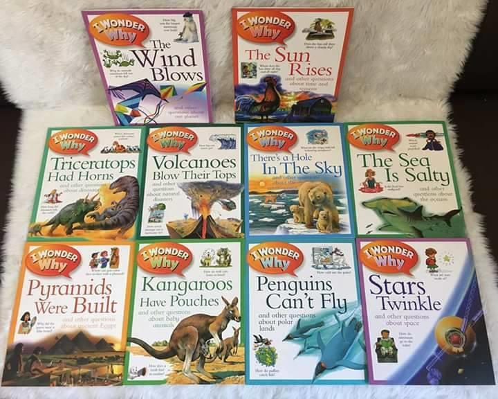 I wonder Why bộ sách tìm hiểu khoa học tiếng anh trẻ em 10 quyển