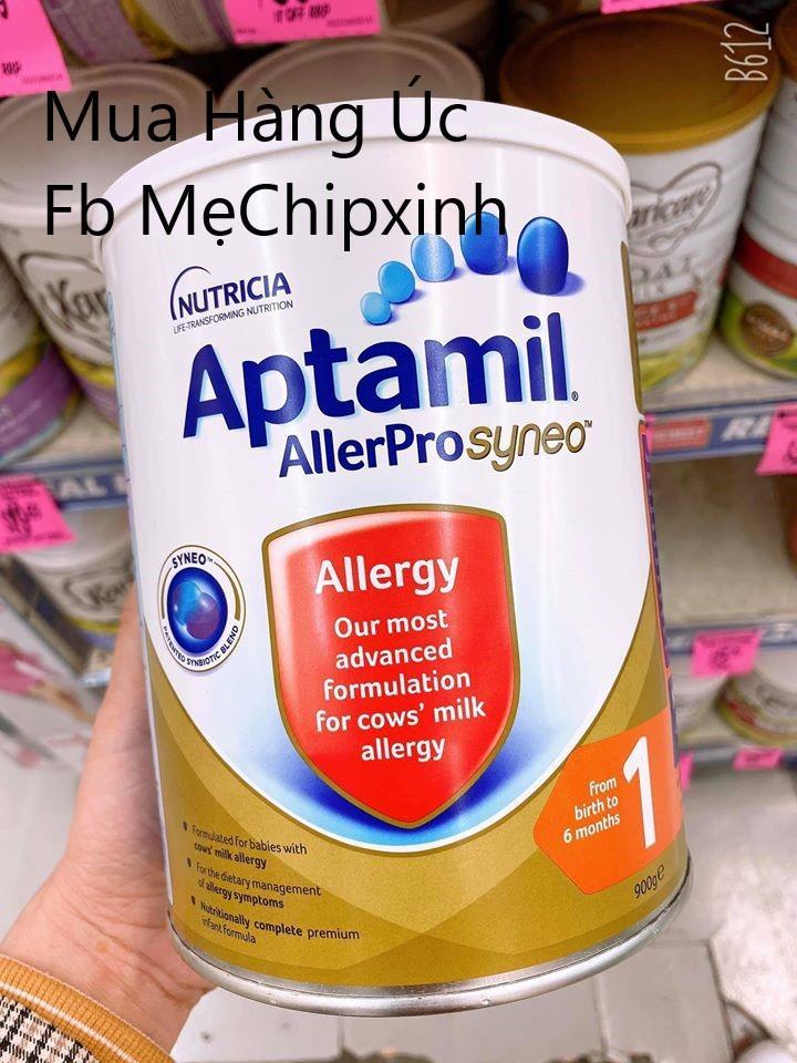 🇦🇺 Aptamil Allerpro Syneo 900g- Dòng sữa cao cấp dành riêng cho các bé bị dị ứng đạm bò ✅