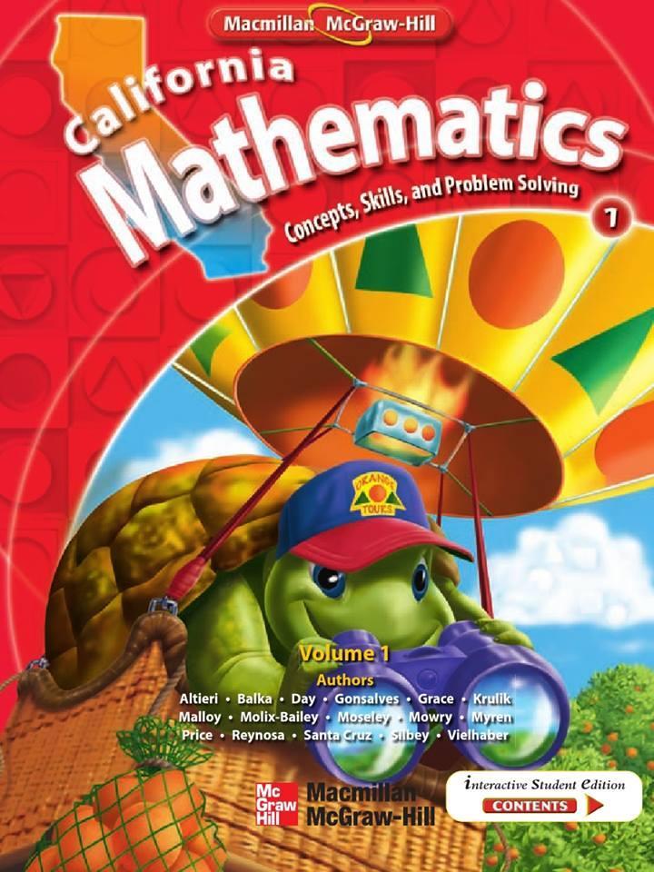 Bộ sách California Mathematics 7 level toán tiếng Anh tiểu học ebook sách PDF bản mầu đẹp
