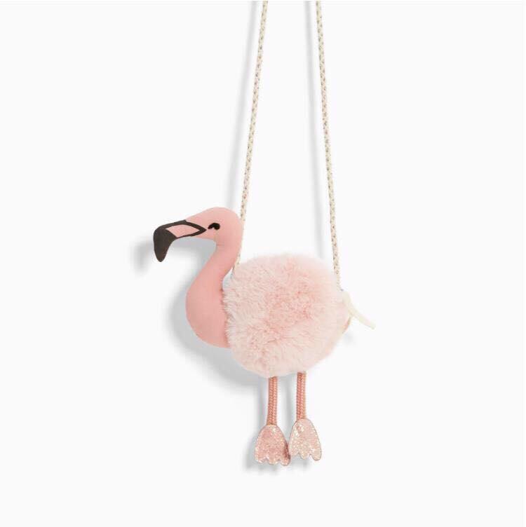 Túi đeo chéo cho bé gái hình hồng hạc hàng xịn Zara girl
