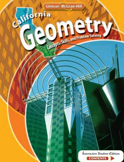 California Geometry (Concepts Skills and Problem Solving)