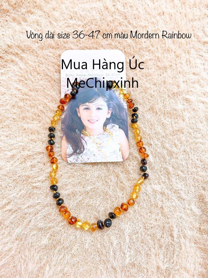 Vòng hổ phách đeo cổ cho bé hàng Úc dài 36-47 cm cho bạn lớn