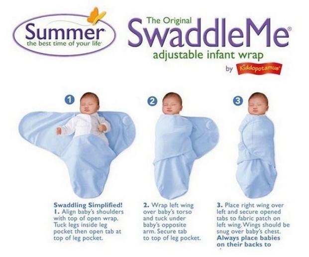 Chăn ủ quấn SwaddleMe sơ sinh hãng Summer Infant Mỹ có tem