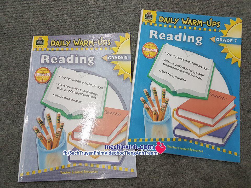 Daily warmup reading và Daily warmup non fiction reading level 7 8 sách tiếng Anh khuyến mại giá tốt