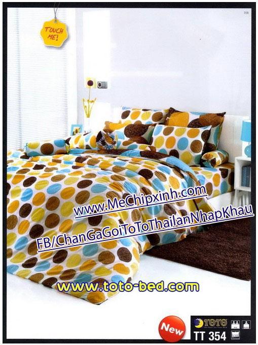 TT354 size giường 1m6 x 2m chăn ga gối ToTo Thái lan nhập khẩu set ga + 2 vỏ gối nằm