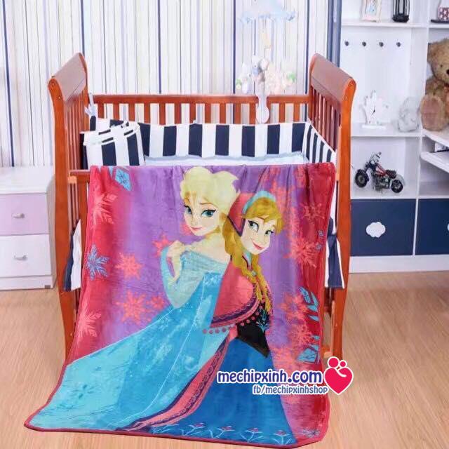 1mx1m4 Chăn băng lông công chúa Elsa Anna Frozen k