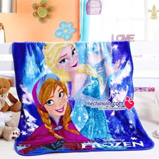 1mx1m4 Chăn băng lông Elsa Anna FRozen mềm đẹp ấm