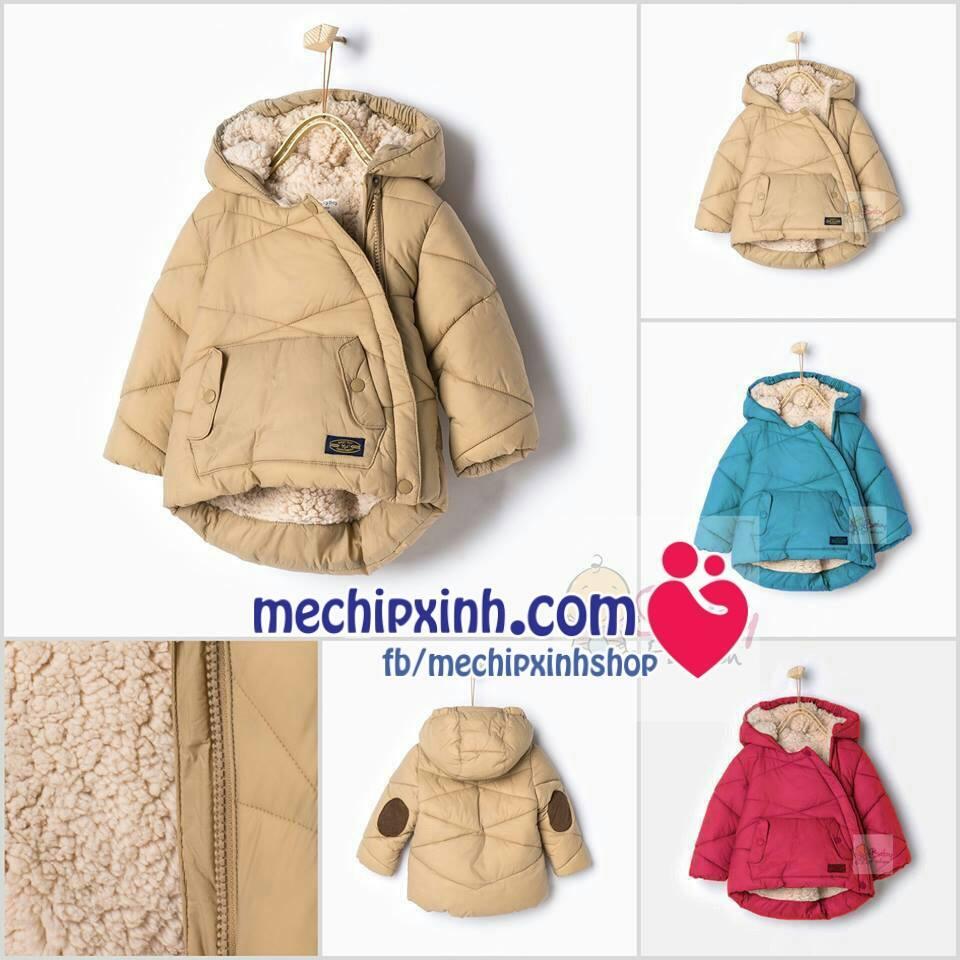 Áo phao Zara lót lông cừu cho bé có 3 mầu như ảnh Sz: 9-12m, 12-18m, 18-24m, 2-3y, 3-4y