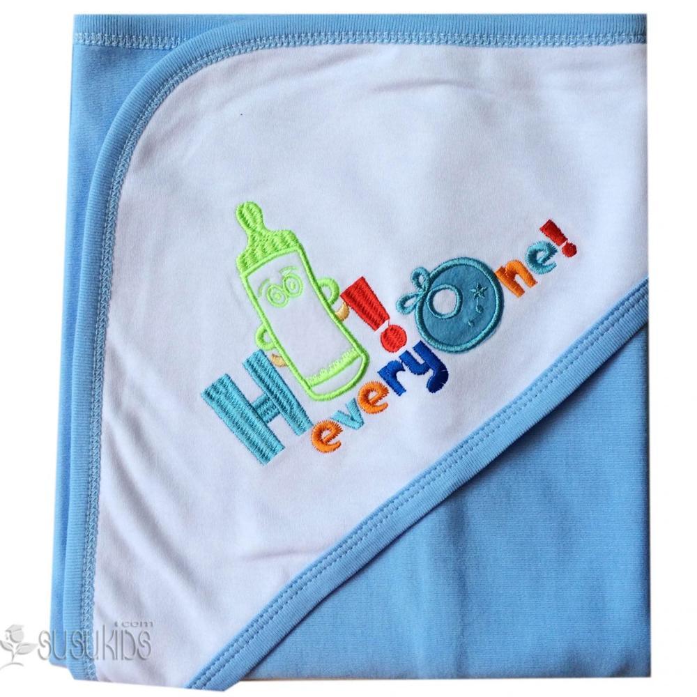 Khăn choàng bế Hello baby Việt Nam 100% cotton